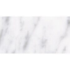 "Carrara Extra High Definition 12"" x 6"" Porcelain Glossy Tile in White"