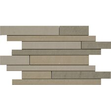 "<strong>Faber</strong> SGT Random Strip Mosaics Dunes 18"" x 12"" Porcelain Polished Tile in Mix"