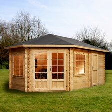 Corner Lodge Cabin for Right Sided Gardens