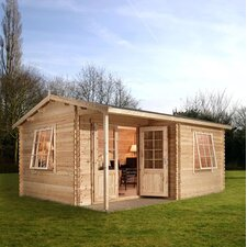 Home Office Executive Log Cabin with Double Door