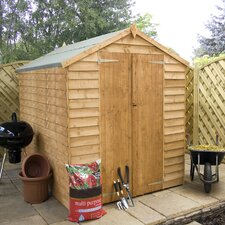 Overlap Apex Shed with Windowless and Double Door