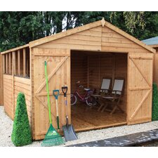 Overlap Apex Shed with Double Doors with Pad Bolt