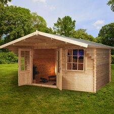Retreat Log Cabin with Opening Windows
