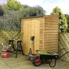 Pent Overlap Storage Shed with Double Doors