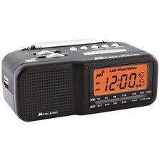 <strong>Midland</strong> Desktop Alarm Clock/Weather Alert Radio
