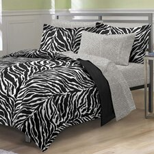 Zebra 5 Piece Bed in a Bag Set