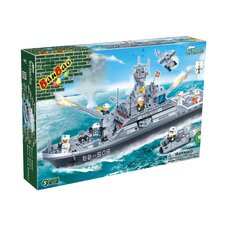 858 Piece Frigate Battleship Block Set