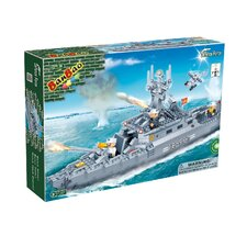 458 Piece Navy Boat Block Set