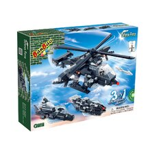 295 Piece 3 in 1 Helicopter F1 Block Set