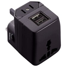 WorldPlug Dual USB Universal Travel Adapter and Charger