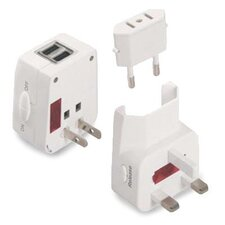 Universal Travel Adapter and USB Charger