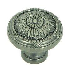 """Floral 1.25"""" Round Knob"""