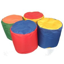 Soft Play Bean Bag Pouffe (Set of 4)