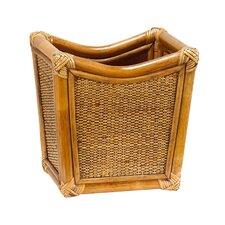 <strong>Gate House Furniture</strong> Natural Rattan Wastebasket