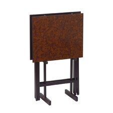 <strong>Gate House Furniture</strong> Folding Snack Table with Stand (Set of 2)
