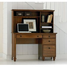 Bryant Park Pedestal Desk with Optional Hutch
