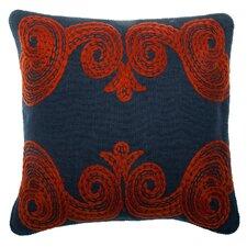 Tomato Crewl Linen Pillow