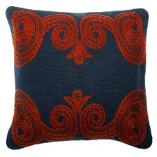 Tomato Crewl Linen Pillow