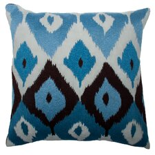 Modern Ikat Square Linen Pillow
