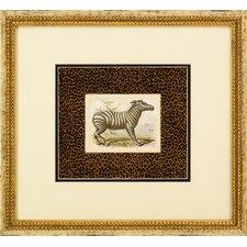 Dickes Zebra Framed Art