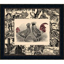 Toile Roosters I Framed Art