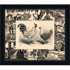 Toile Roosters II Framed Art