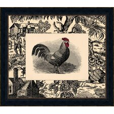 Toile Roosters III Framed Art