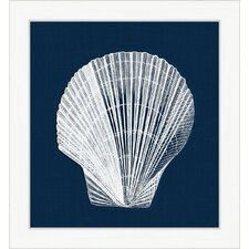 <strong>Melissa Van Hise</strong> White Shell on Blue lll Wall Art