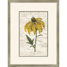 Yellow Flower with Writing II Wall Art