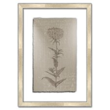 <strong>Melissa Van Hise</strong> Floral Stems on Linen with Writing I Wall Art
