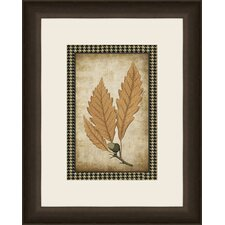 Houndstooth Leaves III Wall Art