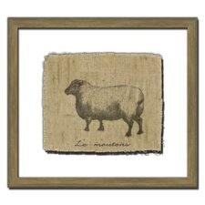 Sheep on Linen II Wall Art
