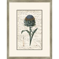 Thistle with Writing Wall Art
