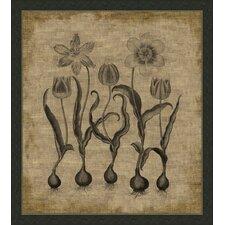 Flora on Linen I Framed Graphic Art