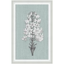 <strong>Melissa Van Hise</strong> White Flora on Spa Linen VI Wall Art