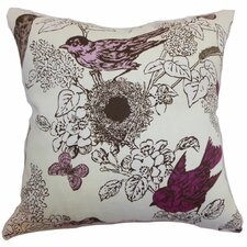 <strong>The Pillow Collection</strong> Ouvea Birds Cotton Pillow