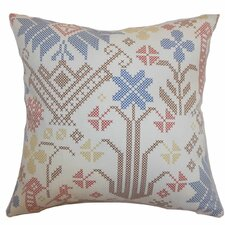 <strong>The Pillow Collection</strong> Dori Cross Stitch Cotton Pillow