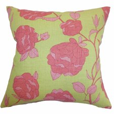 <strong>The Pillow Collection</strong> Lalomalava Floral Linen Pillow