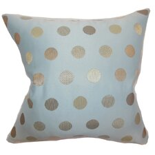Calynda Dots Pillow in Light Blue