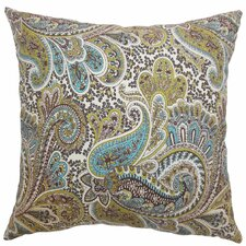 <strong>The Pillow Collection</strong> Dorcas Paisley Cotton Pillow