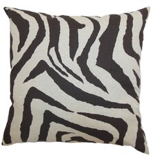 Ellie Zebra Linen Pillow