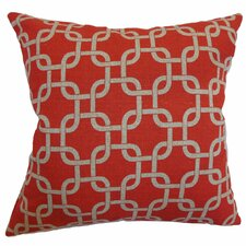 <strong>The Pillow Collection</strong> Qishn Geometric Cotton Pillow