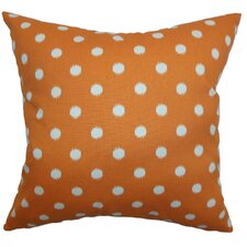Rennice Ikat Dots Cotton Pillow