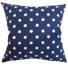Rennice Ikat Dots Cotton Pillow
