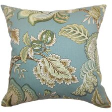 <strong>The Pillow Collection</strong> Bryda Floral Cotton Pillow