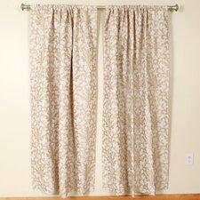 Latte Rod Pocket Curtain Single Panel