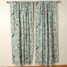 <strong>The Pillow Collection</strong> Barber Village Blue Rod Pocket Curtain