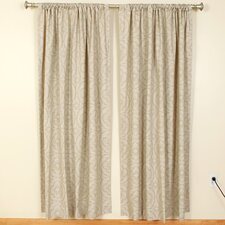 Francis Cloud Linen Rod Pocket Curtain Single Panel