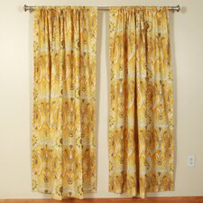 <strong>The Pillow Collection</strong> Ikat 2 Rod Pocket Curtain