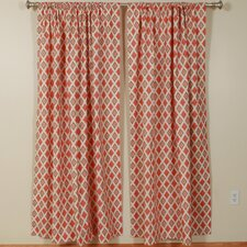 Carnival Gumdrop Natural Rod Pocket Curtain Single Panel